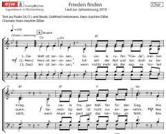Einzelstimme - Frieden finden - Chorsatz (PDF)