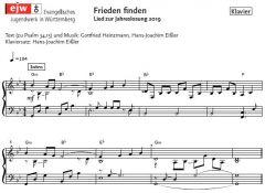 Einzelstimme - Frieden finden - Klaviersatz (PDF)