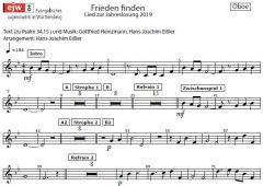 Einzelstimme - Frieden finden - Oboe (PDF)