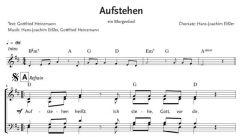 Einzelstimme - Aufstehen - ein Morgenlied - Chor (PDF)