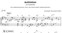 Einzelstimme - Aufstehen - ein Morgenlied - Klavier (PDF)