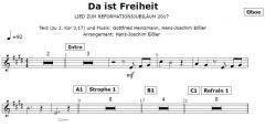 Einzelstimme - Da ist Freiheit - Oboe (PDF)