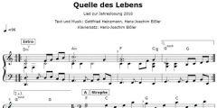 Einzelstimme - Quelle des Lebens - Klavier (PDF)