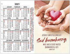 Jahreslosung 2021 Motiv Herz Doppel-Spielkarten-Kalender