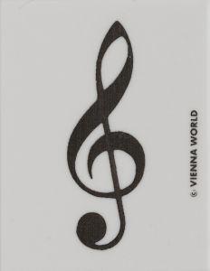 Radiergummi mit Violinschlüssel schwarz