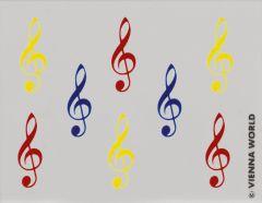 Radiergummi mit Violinschlüssel bunt