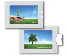 Zwei-Bild-Karte Pflanze