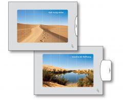 Zwei-Bild-Karte Wüste