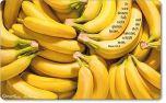 Vesperbrettchen / Frühstücksbrettchen Bananen