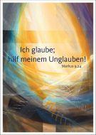Jahreslosung 2020 Motiv Münch 40 x 60 cm Kunstdruck